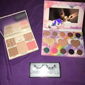 Makeup Palettes and Lashes Bundle
